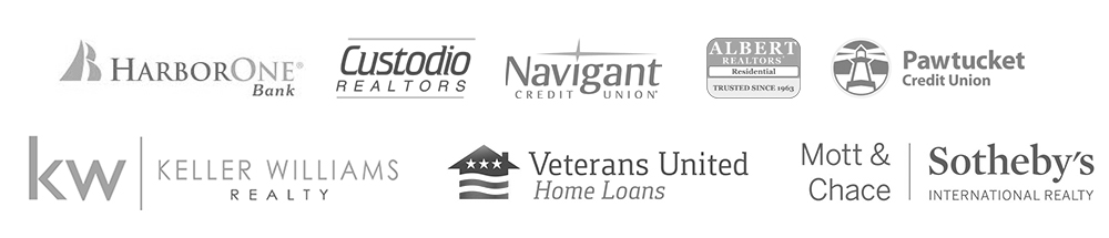harborone bank, custodio realtors, navigant credit union, albert realtors, pawtucket credit union, keller williams, veterans united home loans, sotheby's